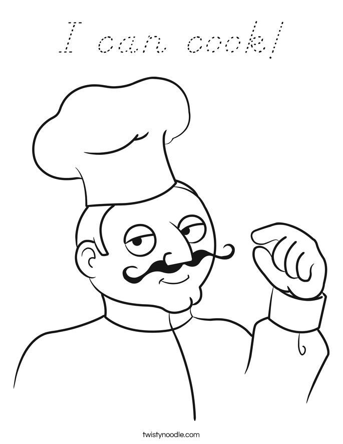I can cook! Coloring Page