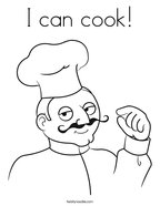I can cook Coloring Page