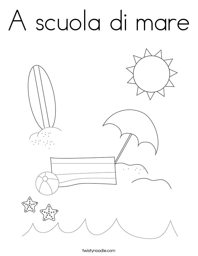 A scuola di mare Coloring Page