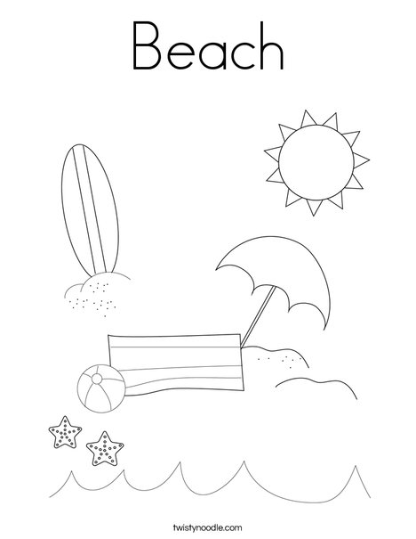 Man on the Beach with Ball Coloring Page