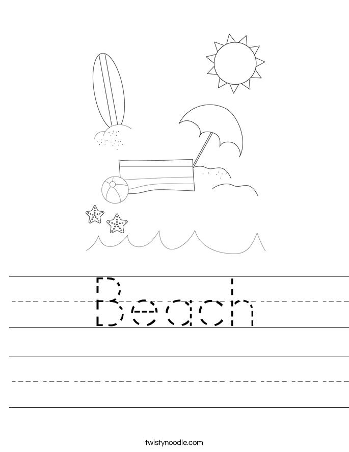 Beach Worksheet
