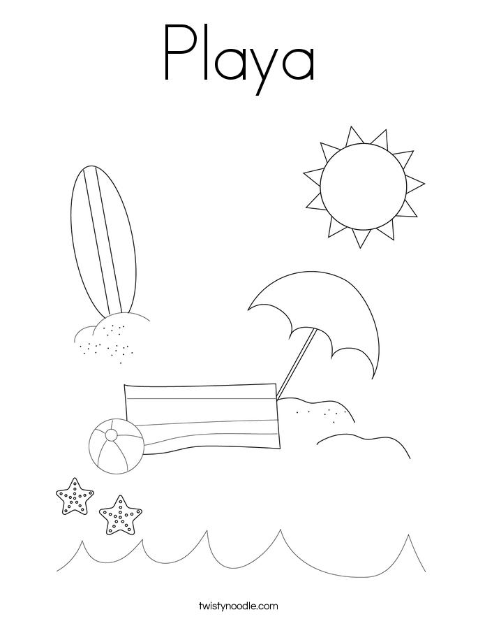 Playa Coloring Page