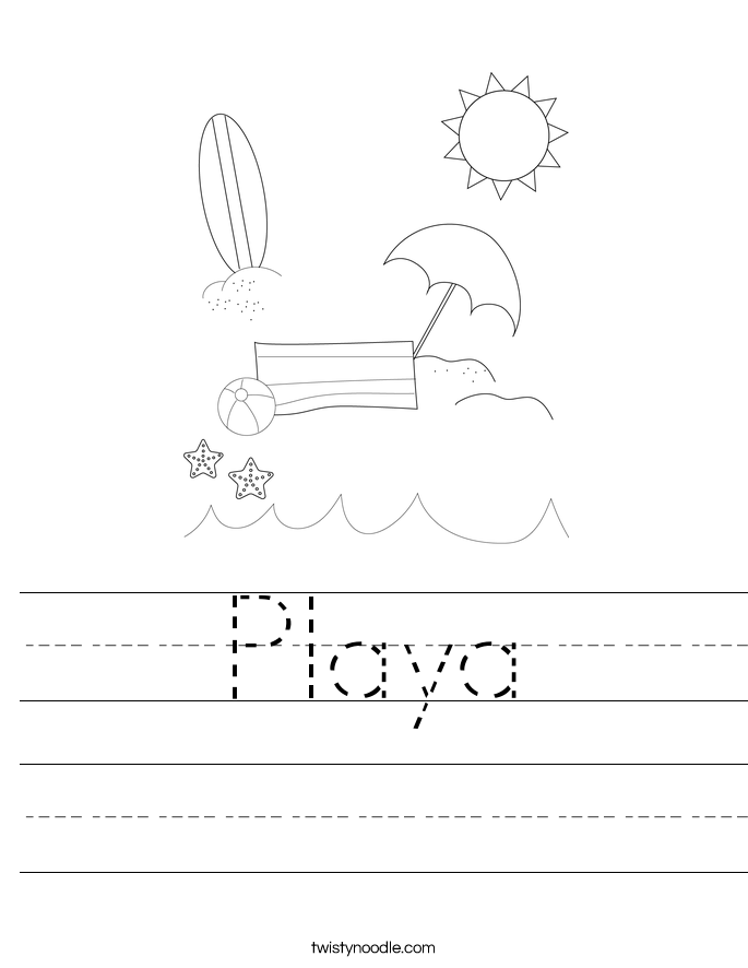 Playa Worksheet