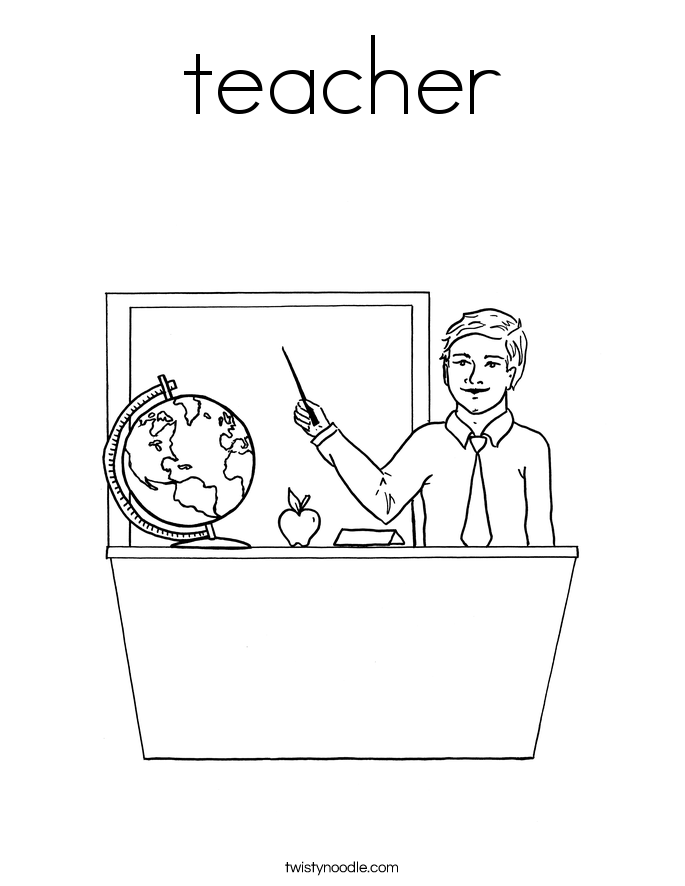 Teachers Coloring Pages - Twisty Noodle
