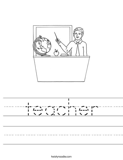 Man Teacher Worksheet
