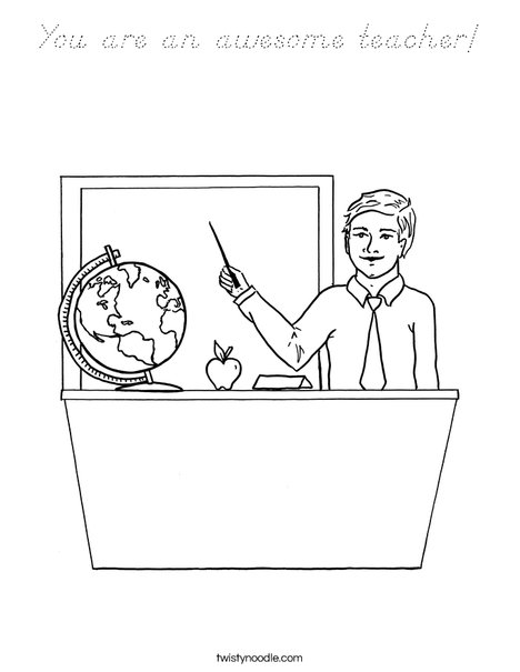 Man Teacher Coloring Page