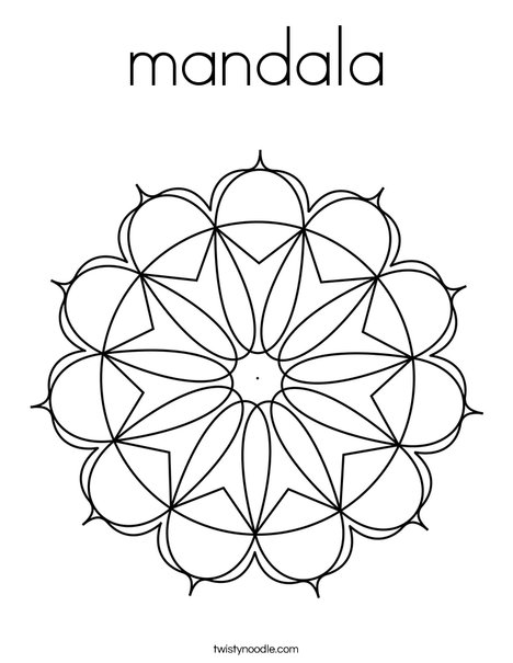 Mandala by Mandala You! Coloring Page