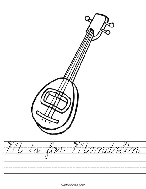 Mandolin Worksheet