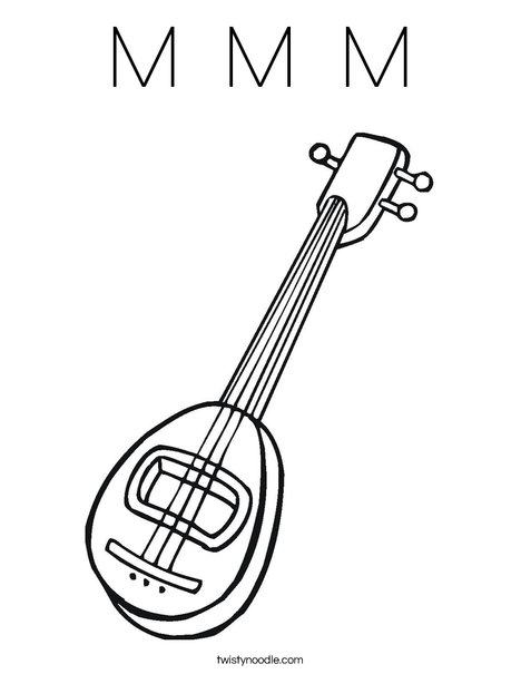 Mandolin Coloring Page