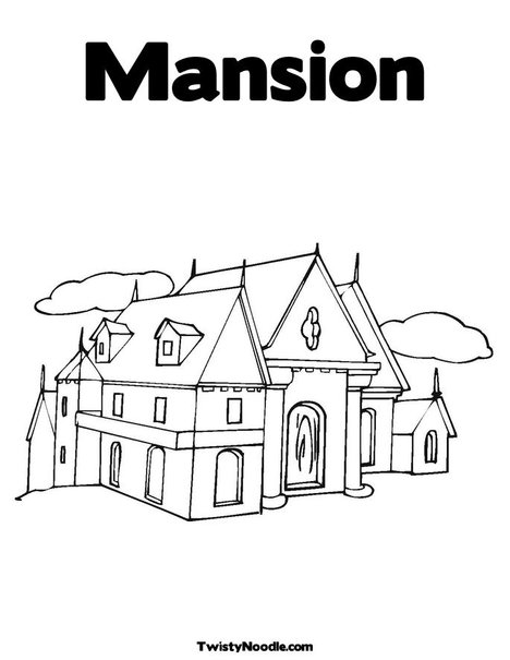 mario mansion coloring pages - photo#35