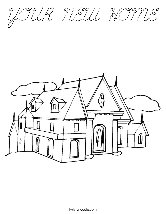 YOUR NEW HOME Coloring Page