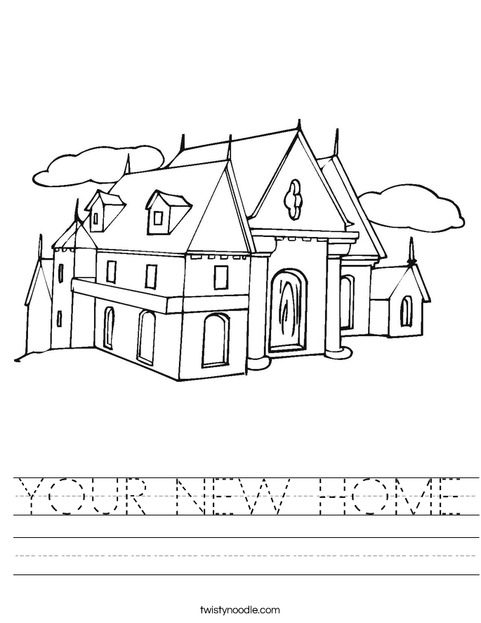 YOUR NEW HOME Worksheet