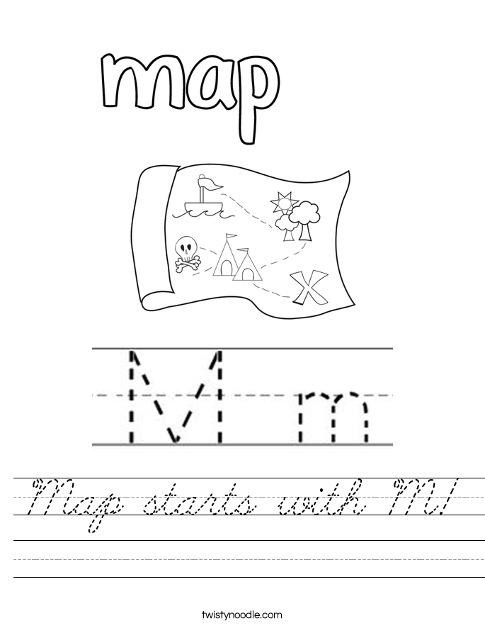 Map starts with M! Worksheet