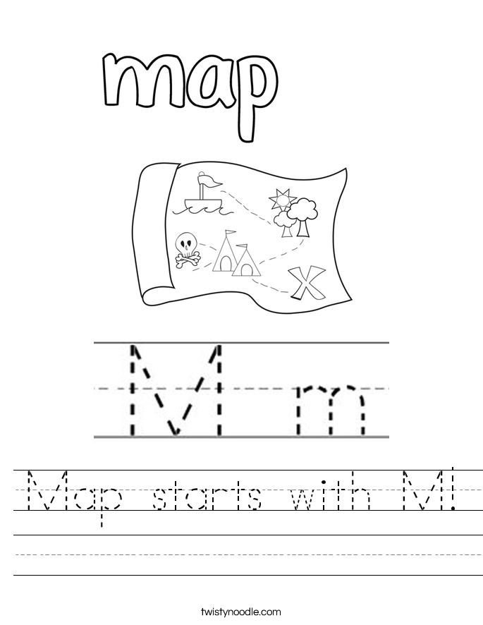 Letter M Worksheets Twisty Noodle – Letter M Worksheets