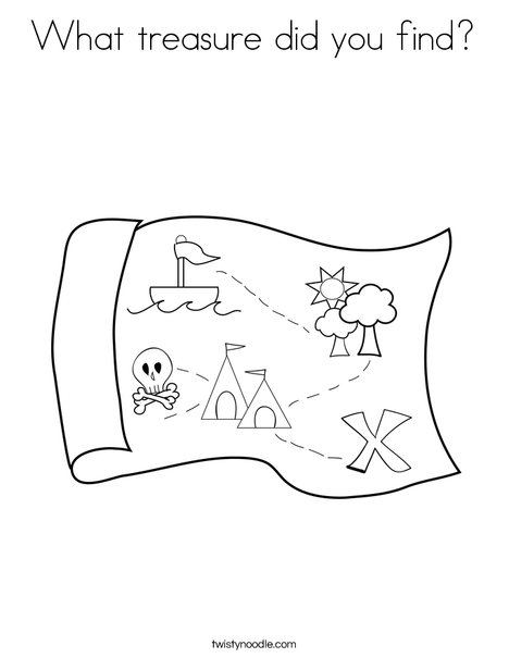 Map Coloring Page  X Marks The Spot Coloring Page