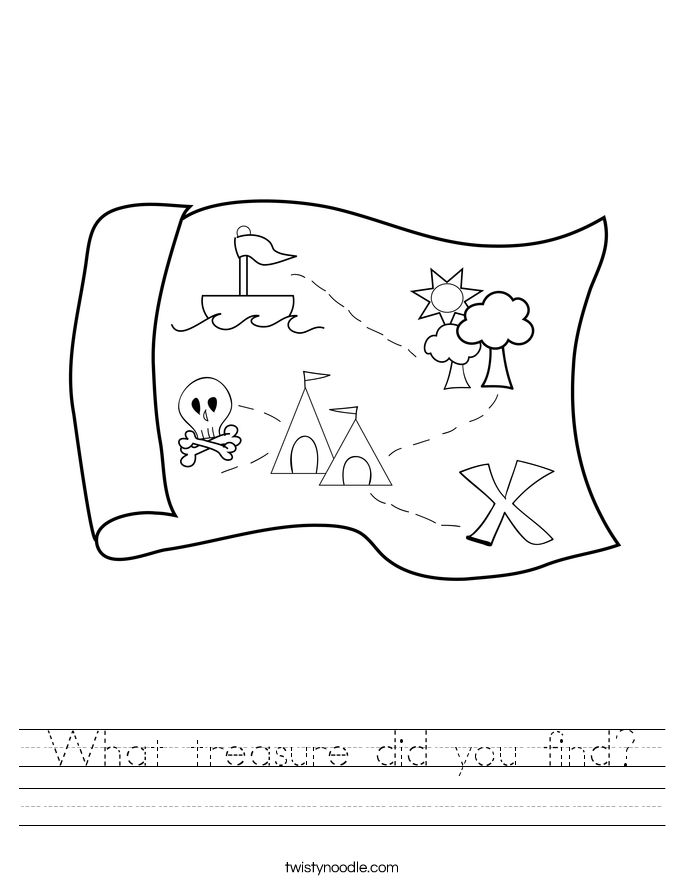 What treasure did you find? Worksheet