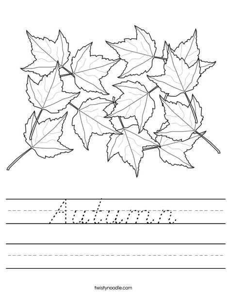 Maple Leaves Worksheet