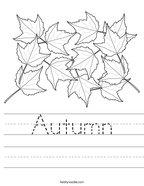 Autumn Handwriting Sheet