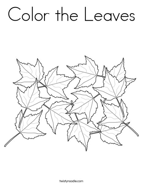 Maple Leaves Coloring Page