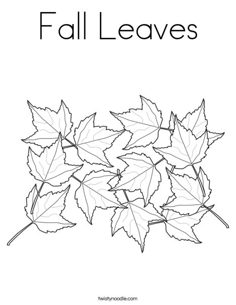 Fall Leaves Coloring Page Twisty Noodle
