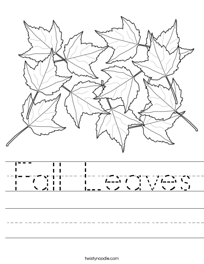 Fall Leaves Worksheets Kindergarten