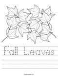 Fall Leaves Worksheet