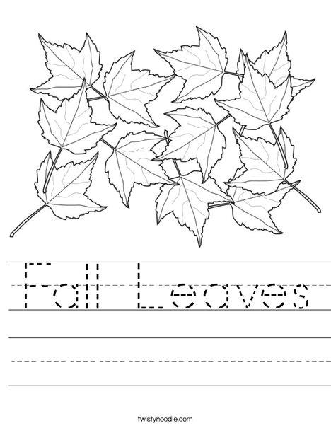 Maple Leaves Worksheet
