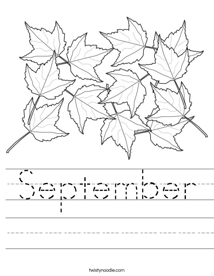 September Worksheet