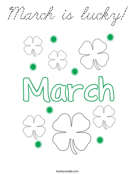 March is lucky! Coloring Page