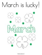 March is lucky Coloring Page