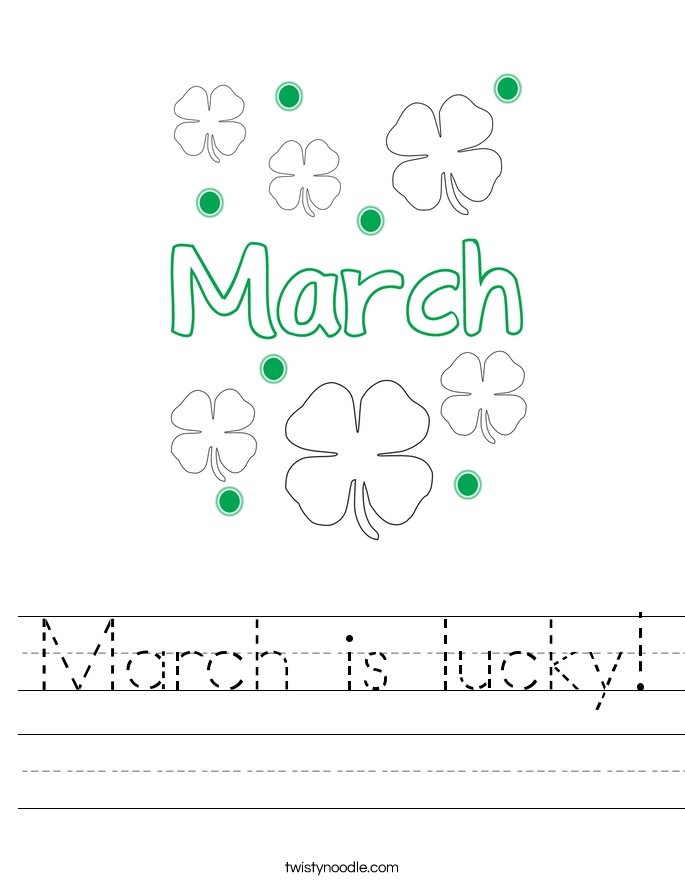 March is lucky! Worksheet
