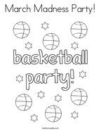 March Madness Party Coloring Page