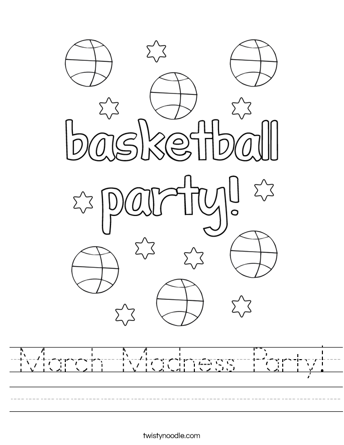 March Madness Party! Worksheet