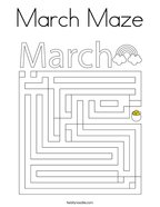 March Maze Coloring Page