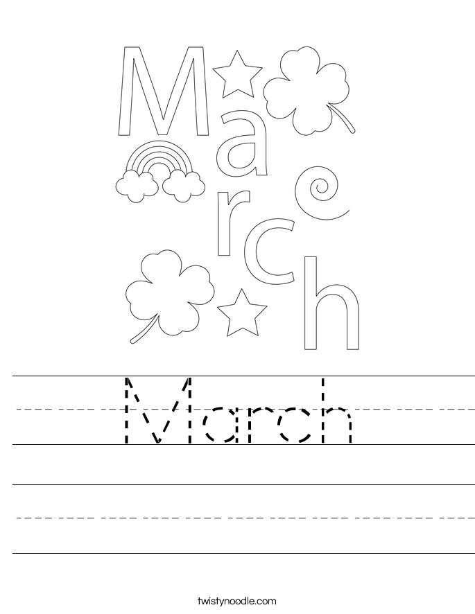 March Worksheet
