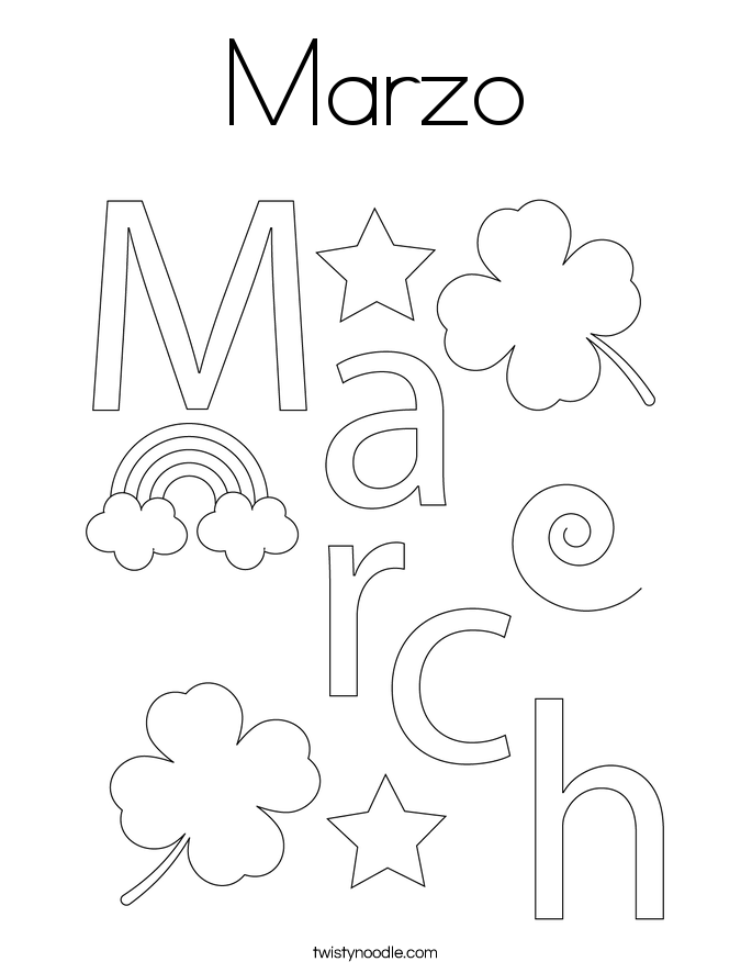 Marzo Coloring Page