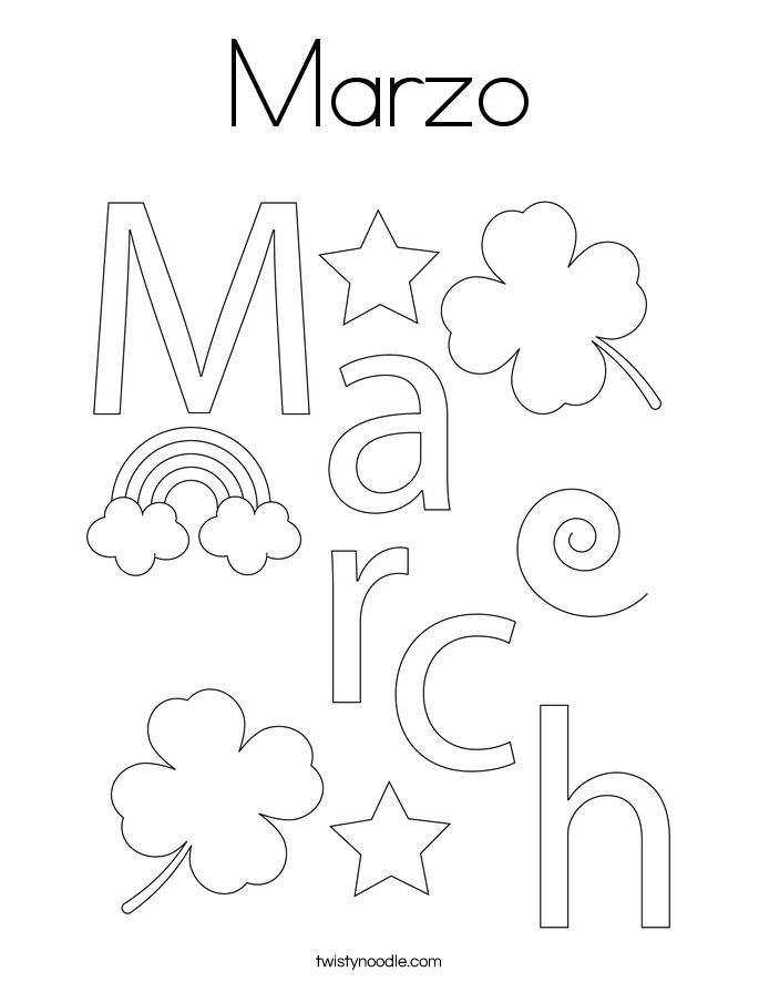 Marzo Coloring Page