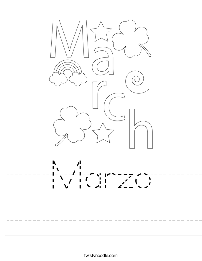 Marzo Worksheet