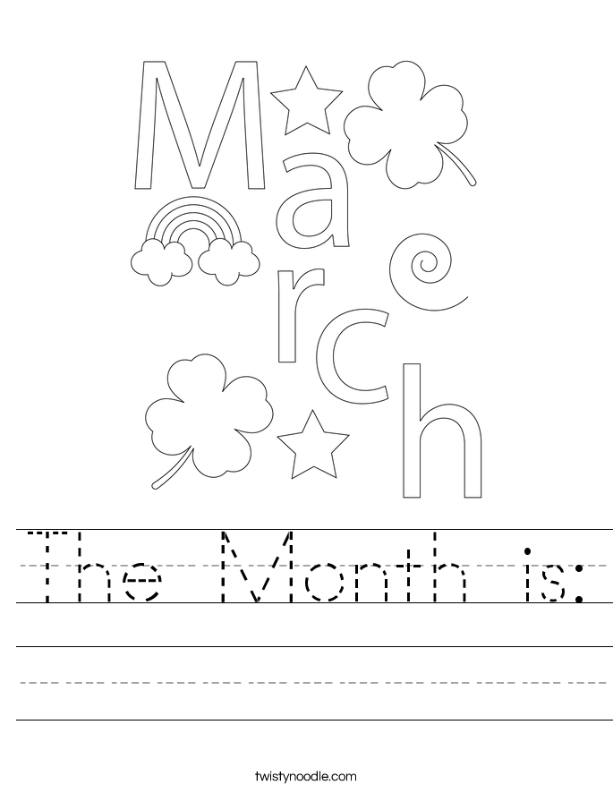 The Month is: Worksheet