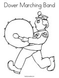 Dover Marching Band Coloring Page