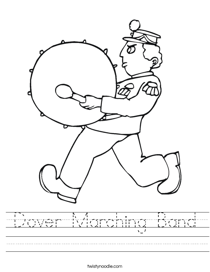 Dover Marching Band Worksheet