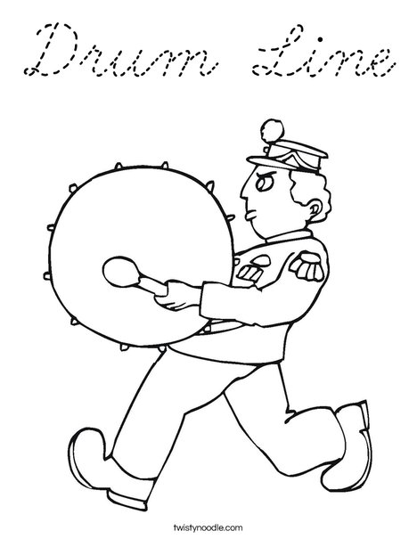 Marching Band Coloring Page