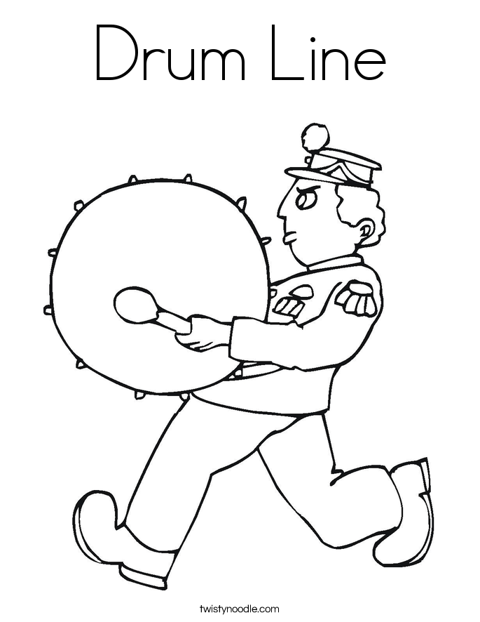 Drum Line Coloring Page