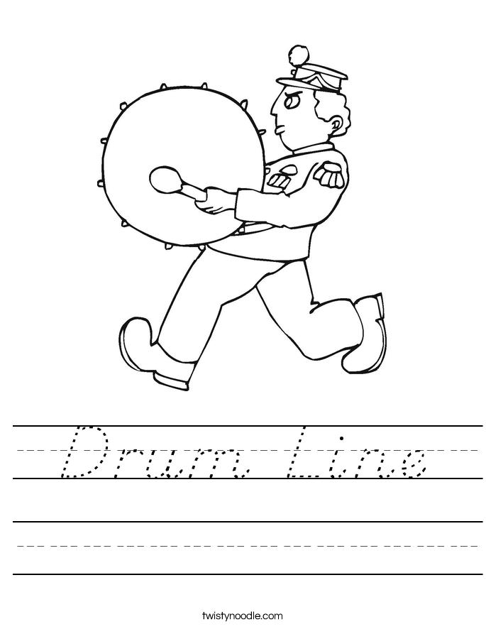 Drum Line Worksheet