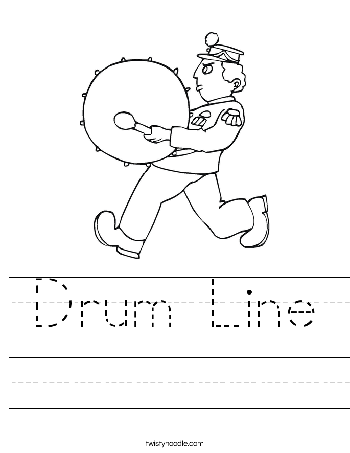 Drum Line Worksheet