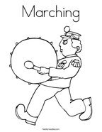 Marching Coloring Page