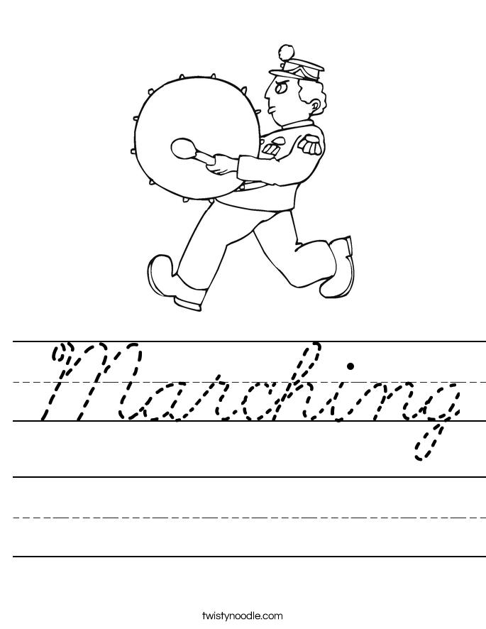 Marching Worksheet