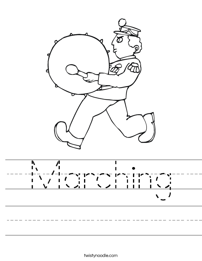 Marching Worksheet