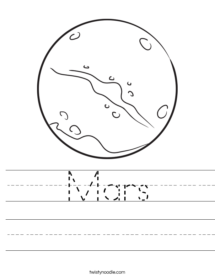 Mars Worksheet
