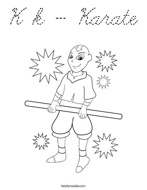 Martial Arts Coloring Page